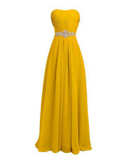 Long Bridesmaid Dresses Chiffon Ball Gown Cocktail Evening Dresses UK Size 6-24