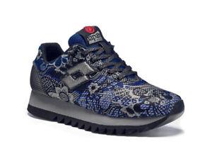Scarpe Sneakers Donna LOTTO LEGGENDA S5828 OSAKA Blu / Nero con Fantasia