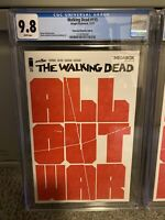 The Walking Dead CGC 9.8 Issue #115 All Out War Megabox Variant Cover