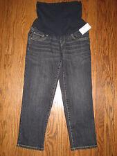 NEW Motherhood Oh Baby maternity womens small denim jeans capri cropped $44