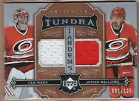 Justin Williams Cam WARD 2007/08 Upper Deck ARTIFACTS GAME JERSEY #91/125 CANES!