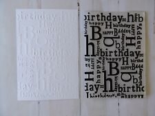 Embossing Folder   -  Happy Birthday