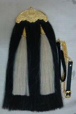 Original 100% New Brand Horse Hair Long Sporrans with Chain & Belt,Gold Chantel