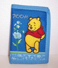Disney WINNIE the POOH Blue Flowers TRI-FOLD WALLET Purse Card Holder Case NEW!!