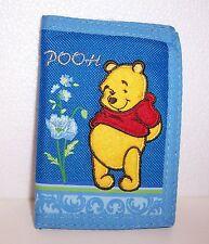 Disney WINNIE the POOH Blue Flowers TRI-FOLD WALLET Purse Card Holder Case NEW!!