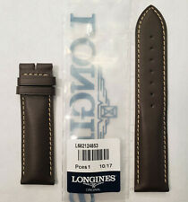 Original Longines 21mm Brown Leather Watch Band Strap # L682124853