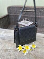 Authentic Gucci Vintage Black Monogram Nylon Datchel/Shoulder Bag🌺
