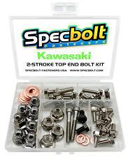 Kawasaki KX125 Top End Engine Bolt Kit KX 125 (Nickel)