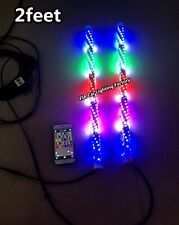 fiacarlighting Pair 2FT CHASING Twisted Spiral Wrapped LED Whips Lights SHIPPED