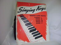 Music Lesson- SINGING KEYS-GRADED PIANO PIECES- BOOK I- 1920-1946