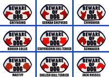 Beware Of Dog Various Breeds - 3D Dog Plaque - House Door Gate Garden Sign Set A