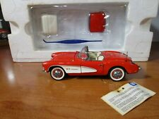 New ListingFranklin Mint 1/24 Red 1957 Chevy Corvette Roaster Used Nice *Issue* Read