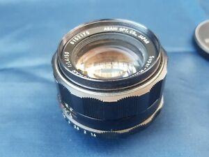 Asahi Pentax Super-Multi-Coated Takumar 1:1.4/50mm 35mm SLR Camera Lens + Filter