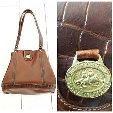 Brahmin Bucket Bag Purse Brown Crocodile Leather Shoulder Bag Shopper Tote