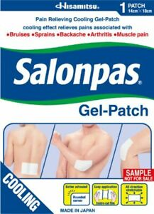 Salonpas - Gel-Patch - Pain Relieving Cold Gel Patch for Sprains, Aches & Muscle