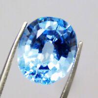 Natural CERTIFIED Oval Cut  7 Ct Genuine Blue Aquamarine Loose Gemstone