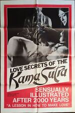 LOVE SECRETS OF THE KAMA SUTRA 1 sheet movie poster 27x41 SEXPLOITATION 1970 NM