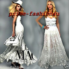 Dolce & Gabbana White  MACRAMÉ EMBROIDERY  Lace long skirt