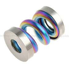 Titanium/Ti Spring/Suspension Biycle Rear Coil Shock Shox Rainbow fit Brompton