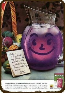 1962 KOOL-AID Grape Smiling Pitcher Vintage Look DECORATIVE REPLICA METAL SIGN