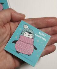 Lucky penny coin Merry Christmas gift penguin stocking filler good luck charm