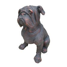 Bulldog Dog Garden Statue / Ornament Bronze Effect W21 X D16 X H24 Inches