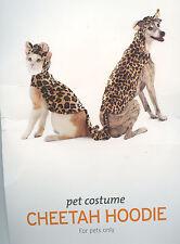 CHEETAH HOODIE Dog Pet Halloween Costume Photo Prop M, L