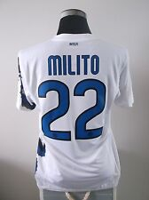 Diego MILITO #22 INTER MILAN AWAY FOOTBALL SHIRT JERSEY 2010/11 (M)