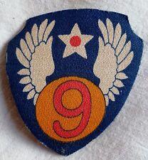 PATCH US WWII ORIGINAL 9° ARMY AIR FORCE insigne tissu imprimé  USA PILOT