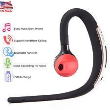 Earhook Bluetooth Headset Headphone Wireless Earpiece for Samsung S9 S8 S7 Wiko