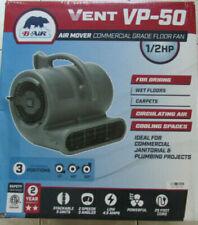 B-Air Vent VP-50 1/2 HP Air Mover Fan Blower Commercial Grade NIB Sealed