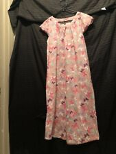 Pink Womens Night Gown Size S Butterfly Pattern