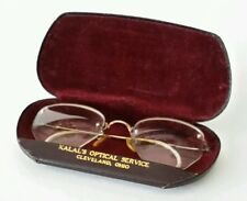 Antique Gold Eye Glasses in Case 1/10 12 KGF Fancy Frames with Lenses