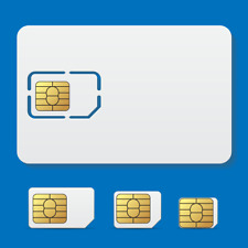 SIM CARD VIP SECURITY PRIVACY RICARICABILE 3 SIZES SCHEDA TELEFONICA SICURA