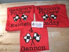 Racing Family Set Mom, Dad & Birthday Child Personalized Birthday Shirts