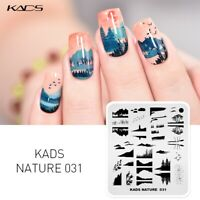 KADS Flower Nail Art Stamping Plates Nail Art Stencil Template Manicure Polish