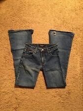 L E I...Distressed Flare Jeans...Size 1