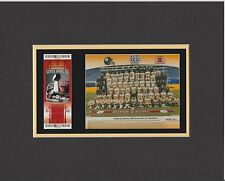 PITTSBURGH STEELERS MATTED PHOTO OF SUPER BOWL 40 GAME TICKET& TEAM 8x10