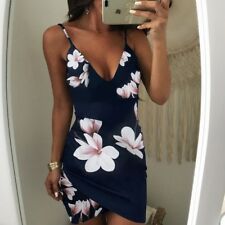 US Sexy Women Summer Floral Bodycon Evening Party Cocktail Club Short Mini Dress