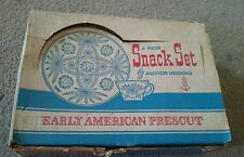 Vintage Anchor Hocking Snack 8 Piece Set Early American Prescut