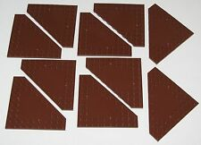 Lego Lot of 10 New Reddish Brown Wedges Plates 10 x 10 Cut Corner Parts Pieces