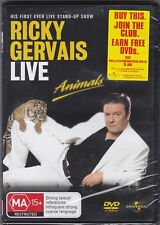 Ricky Gervais Live Animals - DVD (Brand New Sealed) Regions 2 & 4 PAL