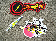lightning bolt surfboard surfing longboard surfer stickers lot team Gerry Lopez