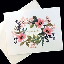 RIFLE PAPER CO. Greeting Card & Envelope - CONGRATS BOUQUET, Gold Accents, Blank