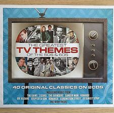 2CD NEW - GREATEST TV THEMES - Music 2x CD Album - Saint Z Cars Steptoe Bonanza