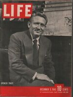 Life December 3 1945 Spencer Tracy Vintage WWII Ads 081919AME