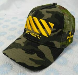 Off White Baseball Hat Adjustable Cap Camo NWT