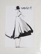 Art Deco Print+Mat Board+Foam Backing Ready to Frame-Vogue #28-NEW