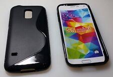 Samsung Galaxy S5 mini Schutztasche Hülle Schutzhülle Tasche Silikon Schwarz