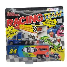 Racing Champions 91' GORDON DUPONT MINI Racing Team TRUCK HAULER CAR 3PC NASCAR